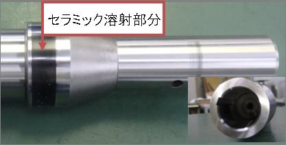セラミック溶射を含むスピンドル部品